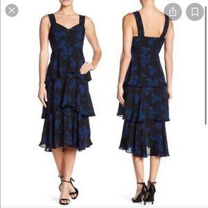 A.L.C. REVOLVE Blue black ruffle dress 4